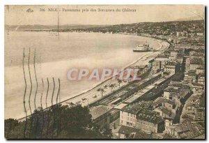 Old Postcard Nice Panorama taken Terrasses du Chateau
