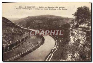 Old Postcard Besancon Doubs Vallee Malate Scenic Road heading towards Mortlak...