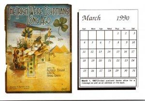 1990 Sheet Music Calendar Series March The Irish Were Egyptians Long Ago