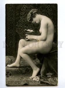 129006 NUDE Woman BELLE Vase Vintage Real PHOTO SAPI #2581 PC