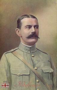 British Field Marshal Horatio Herbert Kitchener, WWI Boer War (1915) Postcard