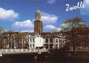 Netherlands Zwolle Peperbustoren v.d. O.L Vrouwenkerk Church Bridge Pont