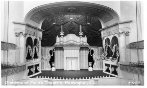 1950s Diorama of Fords Theatre Washington DC RPPC Real Photo Postcard