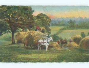 Divided-Back HORSE SCENE Great Postcard AA9401