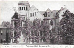 US Used. Waterman Hall, Sycamore, Illinois. Stamp is #405. Dated 1912