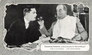 LP95 Theodore Roberts Silent Film Movie Actor Star Postcard Hail the Woman