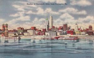 Ohio Cincinnati Skyline From Covington Kentucky