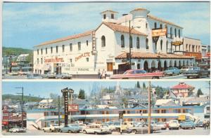 Sonora CA Sonora Inn Motel Restaurant Old Cars Trucks Car Dodge Dealer Postcard