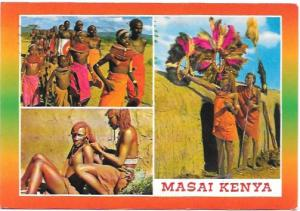 Kenya, Africa. Scenes from Masai.  Mailed from City Square, Kenya in 1999