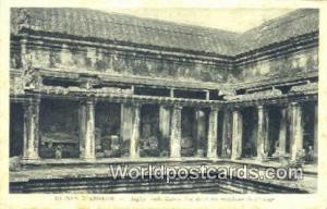 Ruines D'Angkor Cambodia, Cambodge Angkor Vath, Galerie Sud du cloitre crucif...