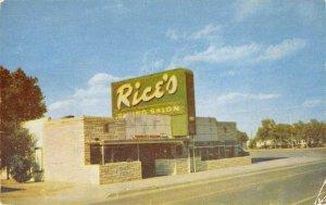 RICE'S Route 66 Roadside Restaurant Amarillo, Texas Diner 1956 Vintage Postcard