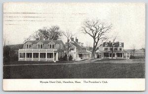 Hamilton Massachusetts~Myopia Fox & Hound Hunt Club~President's Club~1912 B&W