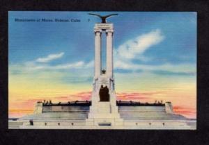US Maine Sinking Ship HABANA HAVANA CUBA Postcard PC