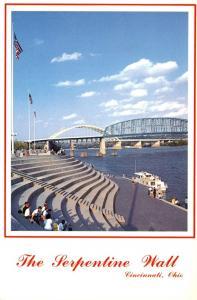 Ohio Cincinnati The Serpentine Wall Along Riverfront
