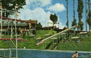 indonesia, JAVA TRETES, Swimming Pool (1950s) I.U.P. 635