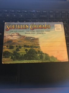 Vintage Picture Postcard Book: Southern Colorado 18 views