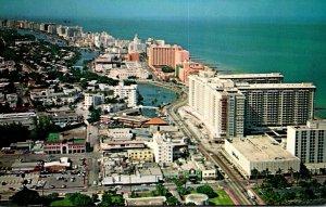 Florida Miami Beach Aerial View Looking North Along Collins Avenue