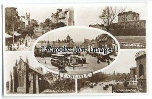 tq0207 - Cumbria - Multiview x 5, of Various Views around Carlisle - postcard