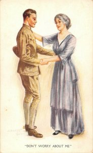 LP95 Archie Gunn WWI Military Romance Soldier Mother    Postcard