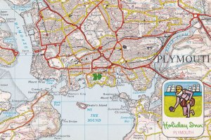 Holiday Inn Plymouth Ordnance Survey Map Postcard