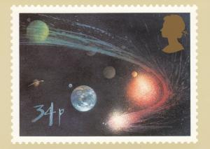 Halley's Comet Stamp postcard 14p