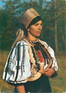 Ethnic native Postcard Romania Saliste Sibiu Dress