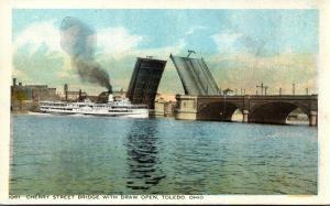 Ohio Toledo Cherry Street Bridge With Draw Open