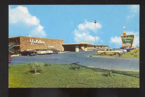 MCALLEN TEXAS HOLIDAY INN MOTEL 1950's CARS VINTAGE ADVERTISING POSTCARD