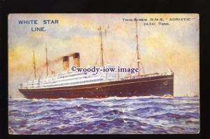 LS1310 - White Star Liner - Adriatic - artist Montague Black - postcard