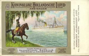 Royal Dutch Lloyd, Written Text from Mail Steamer Amstelland (1908) Dutch Ed