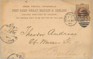 Entier Postal Stationery Postal Great Britain Great Britain 1890 Nottingham t...