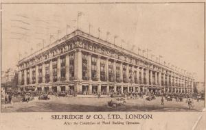 Selfridge & Co Department Store London Third Building Operation Postcard