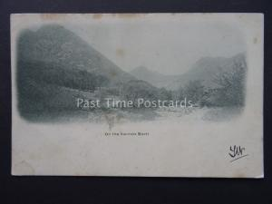 Scotland Arran SANNOX BURN c1902 UB Postcard by G.W.W. to Madge White of Paisley