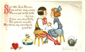 Said Little Jack Horner To My Valentine - Artist Signed John S. Huey - DB - Tuck