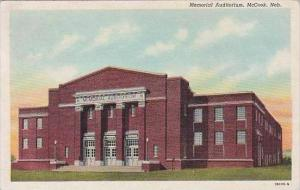 Nebraska Mccook Memorial Auditorium