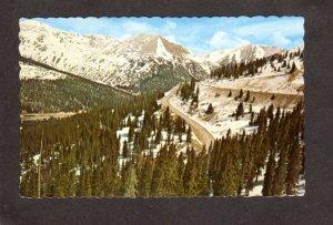 CO Hairpin Curves Highway 6 Loveland Pass nr Denver Colorado Postcard