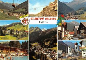 St Anton Arlberg Tirol, Gesamtansicht Schwimmbad Kirche Auto Cars Church