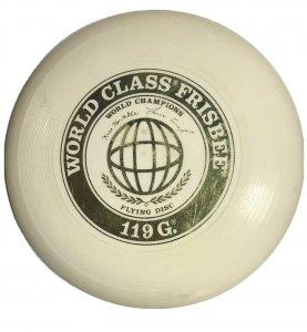 VINTAGE ORIGINAL WHAM-O 119G WORLD CLASS FRISBEE WHITE FLYING DISC 1975