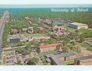 Unused Pre-1980 AERIAL VIEW OF UNIVERSITY OF DETROIT Detroit Michigan MI L6379