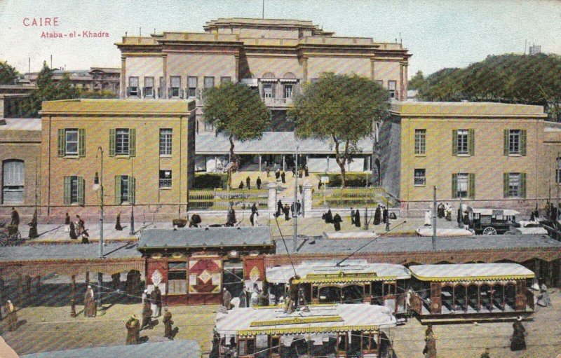 Egypt Cairo Ataba-Al-Khadra Street Scene With Trolleys sk2050a
