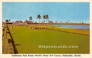 Gulfstream Park Boasts World's Finest Turf Course Hallandale, Florida, FL, US...