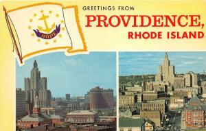 Providence Rhode Island~2 Views-Tallest Building & Industrial National Bank~'50s