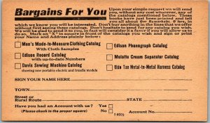 1930s Chicago Mail Order Advertising Postcard BABSON BROTHERS Bargains for You