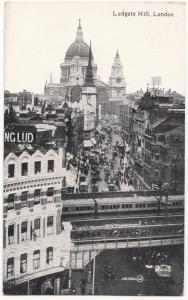 UK, Ludgate Hill, London, 1910s-20s, unused Postcard