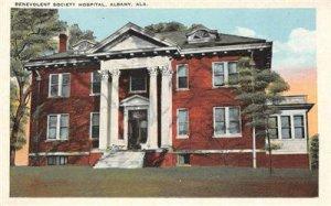 BENEVOLENT SOCIETY HOSPITAL Albany, Alabama c1920s Vintage Postcard