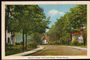 Ontario TORONTO Beautiful Homes, Tree-Lined Streets - pm 1938 - White Border