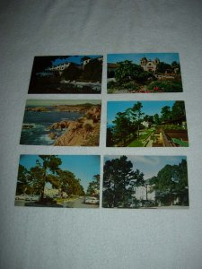 Carmel CA - Lot Of 6 Great Vintage Postcards - x0569