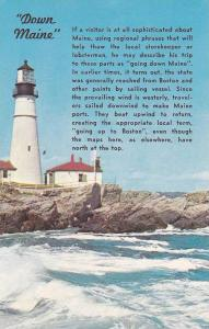 Potland Head Light, First Lighthouse Erected by the USA, Maine