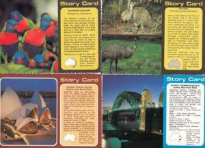 Emu Sydney Opera House Bridge Rainbow Lorikeet 4x Australia Story Postcard s