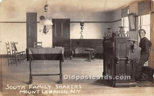 Old Vintage Shaker Post Card South Family , real photo Mount Lebanon, New Yor...